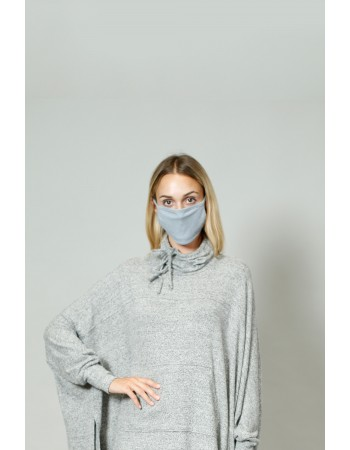 Chambray Jersey Mask - Navy